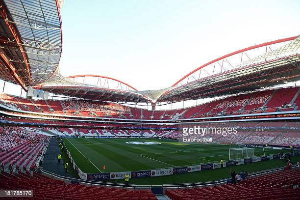 General view of the Estadio do Sport Lisboa e Benfica home of SL Benfica taken during the UEFA Champions League group stage match between SL Benfica...