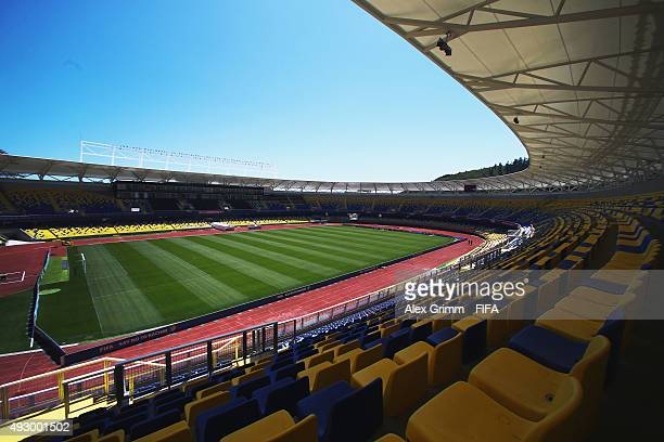 A general view of the Estadio Municipal Ester Roa stadium ahead of the FIFA U17 World Cup Chile 2015 on October 16 2015 in Concepcion Chile