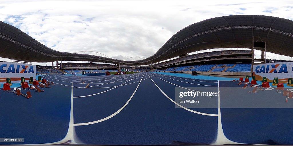General view of the Estadio Olimpico Joao Havelange before the Ibero American Athletics Championships Aquece Rio Test Event for the Rio 2016 Olympics...