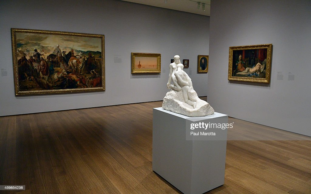 A general view of 'The Eternal Idol' by <a gi-track='captionPersonalityLinkClicked' href=/galleries/search?phrase=Auguste+Rodin&family=editorial&specificpeople=136348 ng-click='$event.stopPropagation()'>Auguste Rodin</a> at the newly reoponed Harvard Art Museums following a $350 million expansion and renovation designed by architect Renzo Piano on December 2, 2014 in Cambridge, Massachusetts.