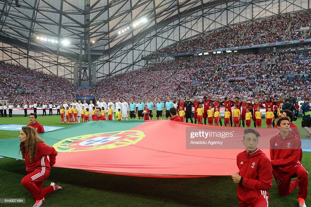 General view of the Euro 2016 quarter-final football match between Poland and Portugal at the Stade Velodrome in Marseille, France on June 30, 2016.