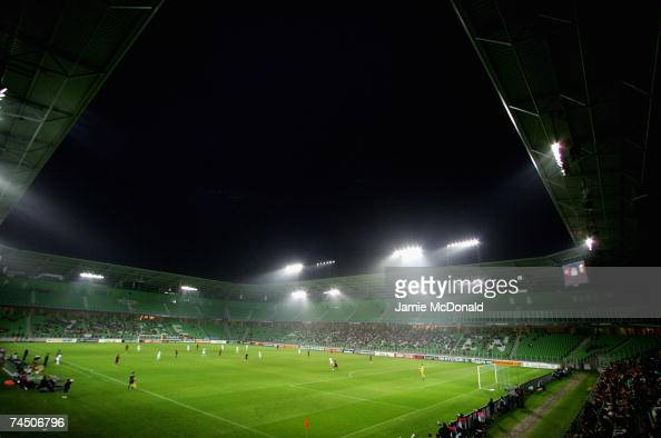 A general view of the Euroborg Stadium during the UEFA U21 Championship group A match between Portugal U21 and Belgium U21 at the Euroborg Stadium on...