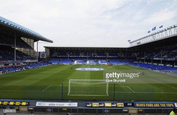 General view of the Everton v Tottenham Hotspur Barclaycard Premiership match played at Goodison Park in Liverpool England on August 17 2002