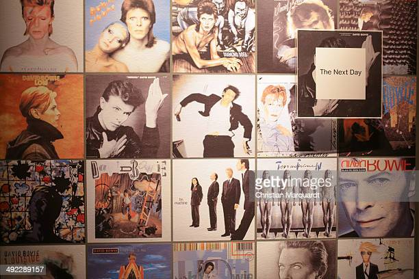 A general view of the exhibition 'David Bowie' at Martin Gropius Bau on May 19 2014 in Berlin Germany The exhibition opens to the public on May 20...