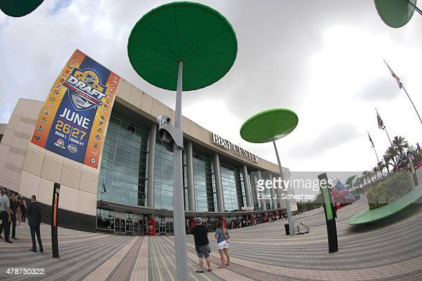 A general view of the exterior BBT Center is seen during the 2015 NHL Draft on June 27 2015 in Sunrise Florida