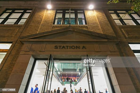 A general view of the exterior facade of Apple Store SoHo on November 11 2014 in New York City