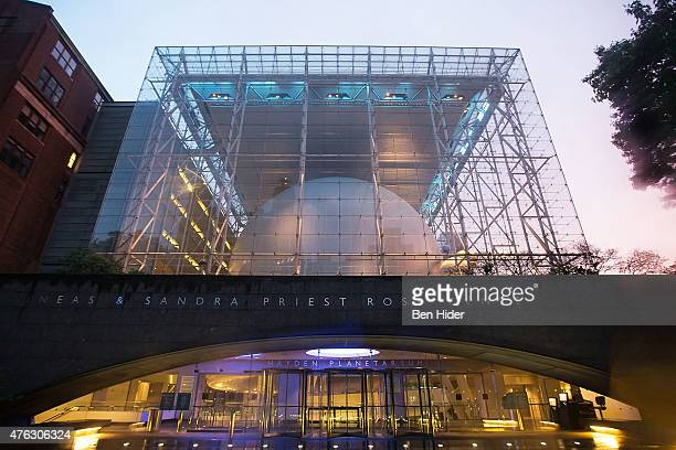A general view of the exterior facade of the planetarium at The Frederick Phineas and Sandra Priest Rose Center for Earth and Space in the American...