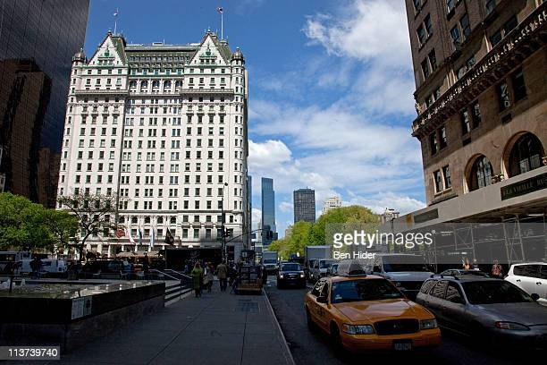 A general view of the exterior facade of the Plaza Hotel on May 5 2011 in New York City