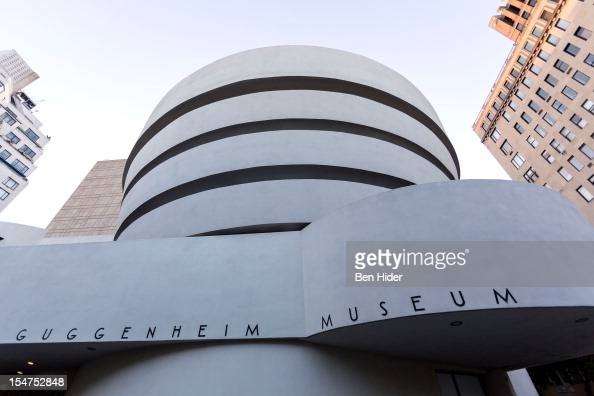 A general view of the exterior facade of the Solomon R Guggenheim Museum designed by Frank Lloyd Wright on October 18 2012 in New York City