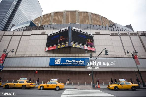 A general view of the exterior facade of The Theater at Madison Square Garden on December 31 2013 in New York City