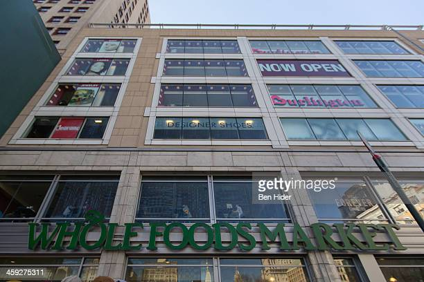 A general view of the exterior facade of Whole Foods Market in Union Square on December 24 2013 in New York City