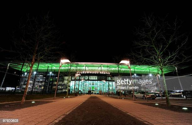 A general view of the exterior is taken after the Bundesliga match between VfL Wolfsburg and Hertha BSC Berlin at Volkswagen Arena on March 21 2010...