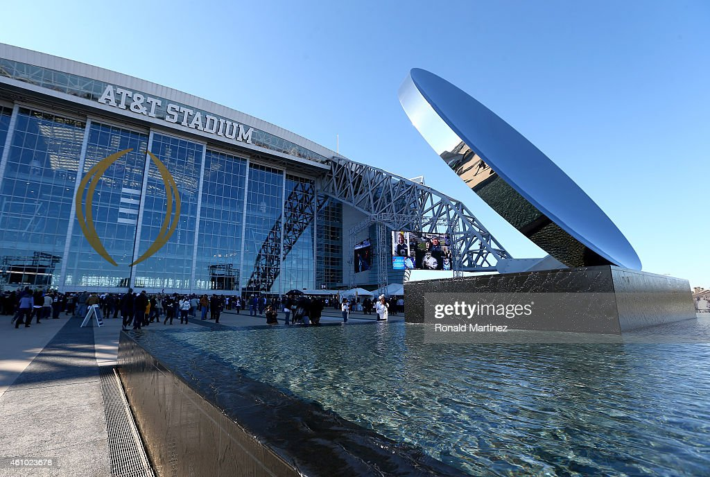 A general view of the exterior of ATT Stadium before the NFC Wildcard Playoff Game between the Dallas Cowboys and the Detroit Lions on January 4 2015...