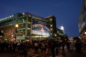 A general view of the exterior of Fenway Park before a game between the Boston Red Sox and he Colorado Rockies during Game Two of the 2007 Major...