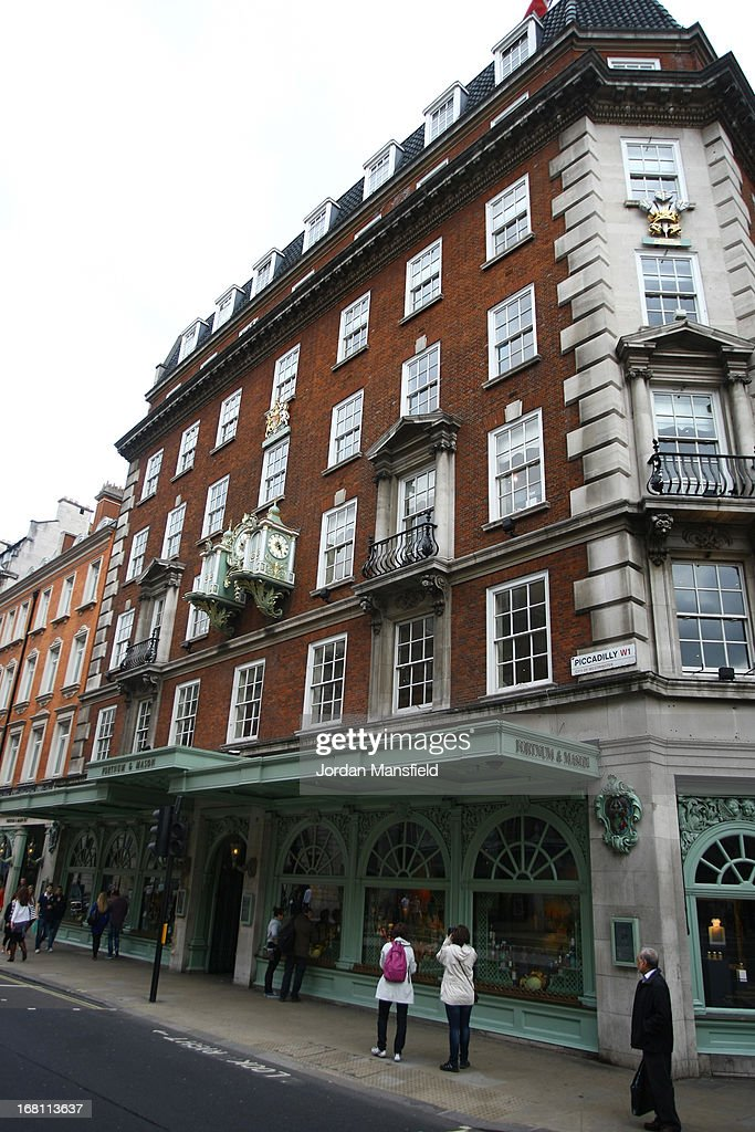 A general view of the exterior of Fortnum and Mason on May 5, 2013 in London, England. Fortnum and Mason have kept bees on their rooftop terrace for the last 7 years. At this time of year, the London Honey Company return the bees to their renovated hives.