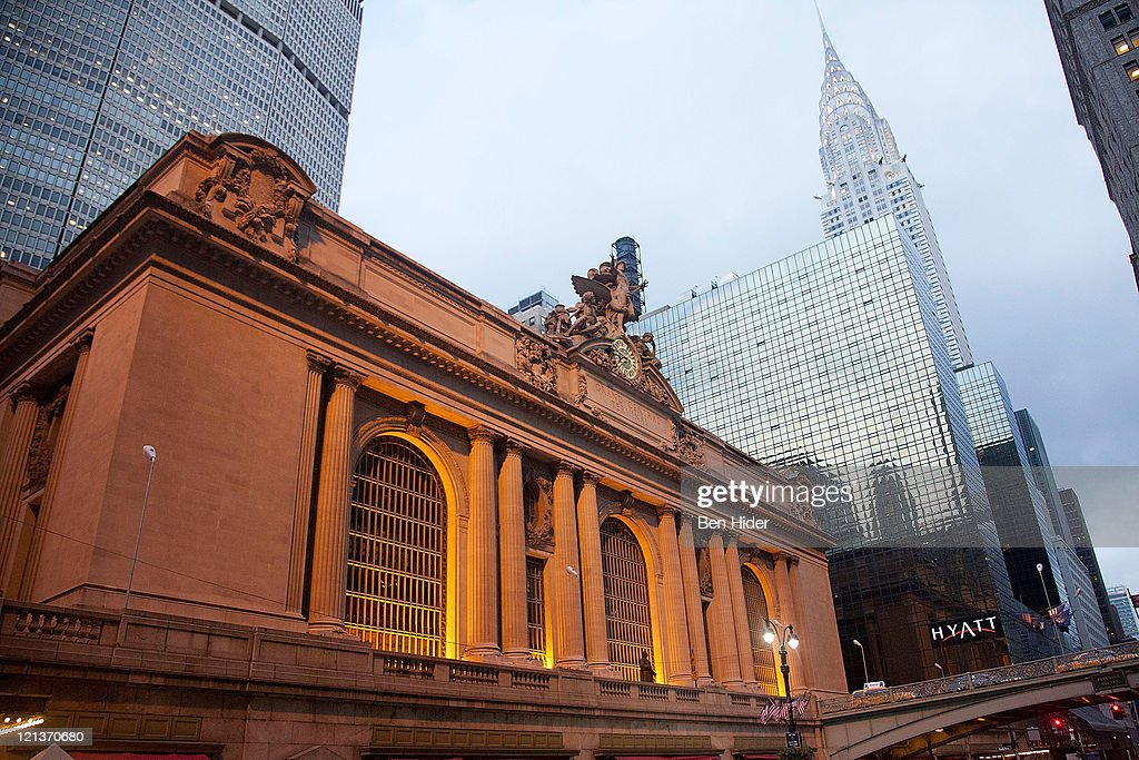 A general view of the exterior of Grand Central Station and the Chrysler Building on December 31, 2011 in New York City.