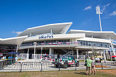 A general view of the exterior of JetBlue Park prior to the game between the Boston Red Sox and Minnesota Twins during a spring training game on...