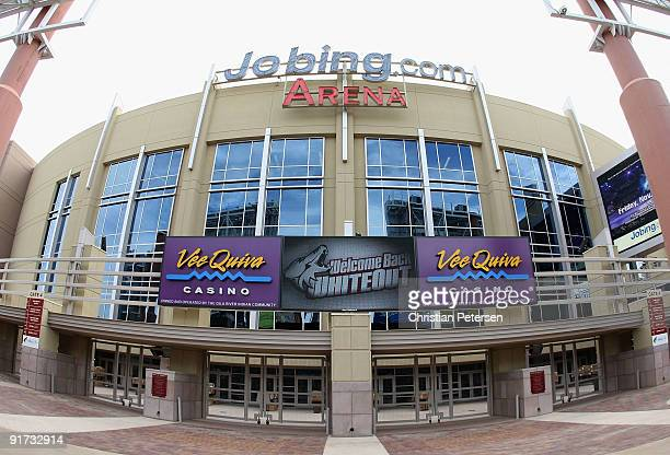 General view of the exterior of Jobingcom Arena before the NHL game between the Columbus Blue Jackets and the Phoenix Coyotes on October 10 2009 in...
