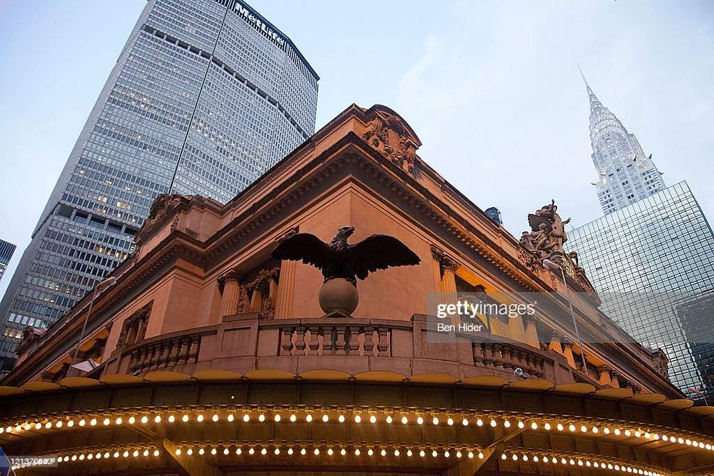 A general view of the exterior of Met Life, Grand Central Station and the Chrysler Building on August 18, 2011 in New York City.