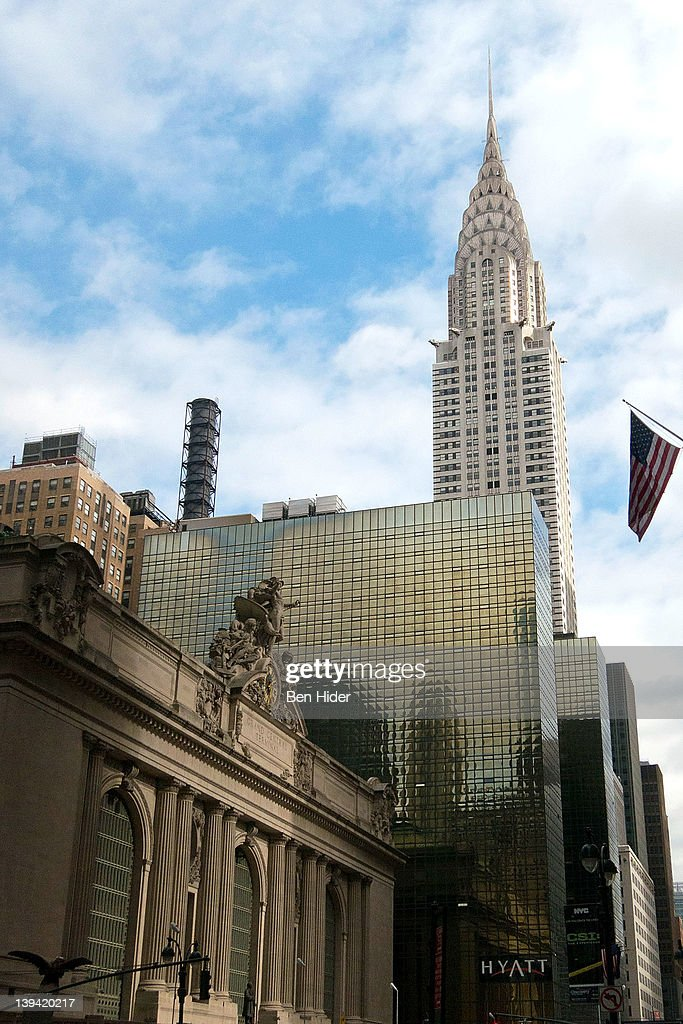 A general view of the exterior of The Chrysler Building and Grand Central Station on February 12, 2012 in New York City.