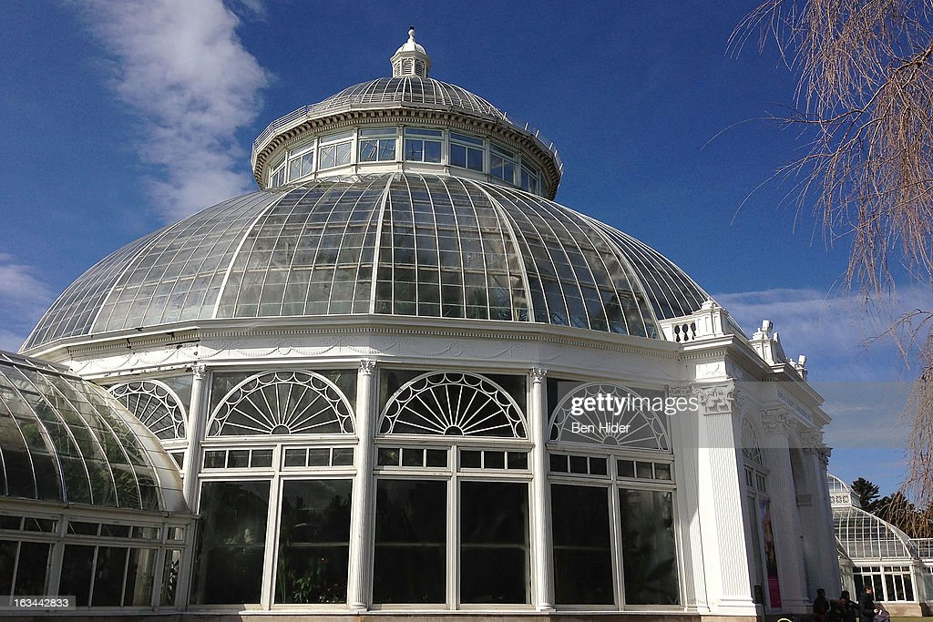 A general view of the exterior of The Enid A. Haupt Conservatory greenhouse at the New York Botanical Garden on March 13, 2013 in New York City.