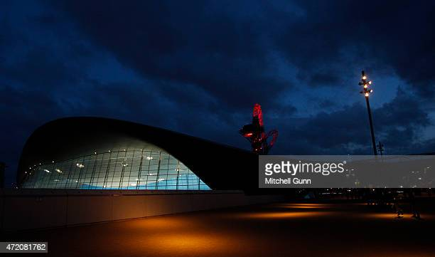 A general view of the exterior of The London Aquatics centre during day three of the FINA/NVC Diving World Series 2015 at the London Aquatics Centre...