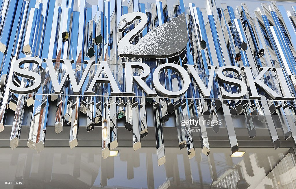 General view of the exterior of the new flagship Swarovski store as it is prepared for opening on Oxford Street on September 15 2010 in London England
