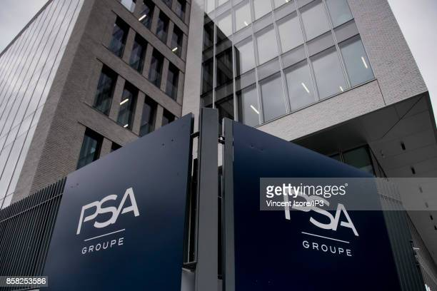 General view of the exterior of the new PSA group headquarters at 7 rue Henri Sainte Claire Deville on the day of its inauguration on October 2 2017...