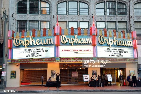 A general view of the exterior of the Orpheum Theatre on South Broadway Avenue on October 13 2012 in Los Angeles California