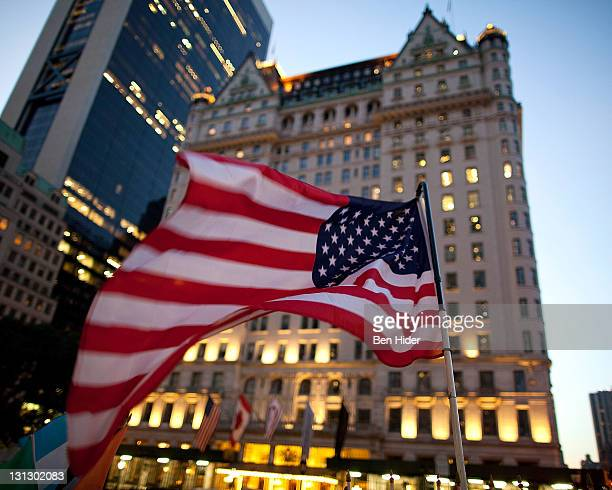 A general view of the exterior of the Plaza Hotel on November 2 2011 in New York City