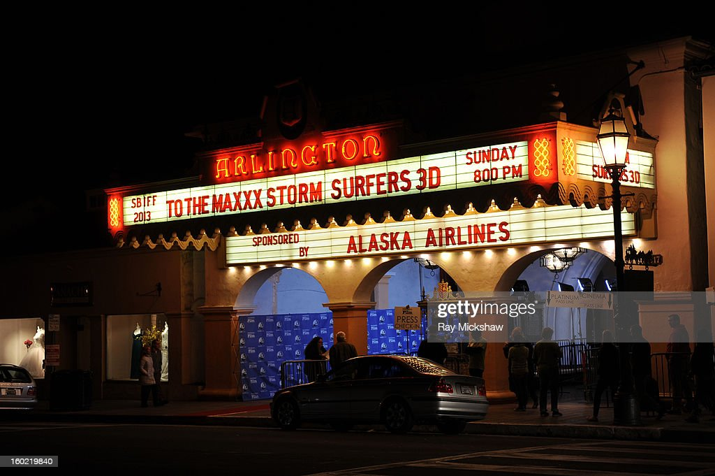 A general view of the exterior of the screening of 'Storm Surfers 3D' at the 28th Santa Barbara International Film Festival on January 27, 2013 in Santa Barbara, California.