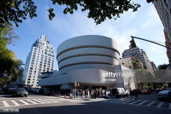 A general view of the exterior of The Solomon R Guggenheim Museum designed by Frank Lloyd Wright on October 7 2011 in New York City