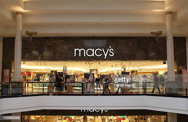 A general view of the exterior of the store's third floor entrance at the Macy's celebration of Fashion's Night Out at Macy's King of Prussia on...