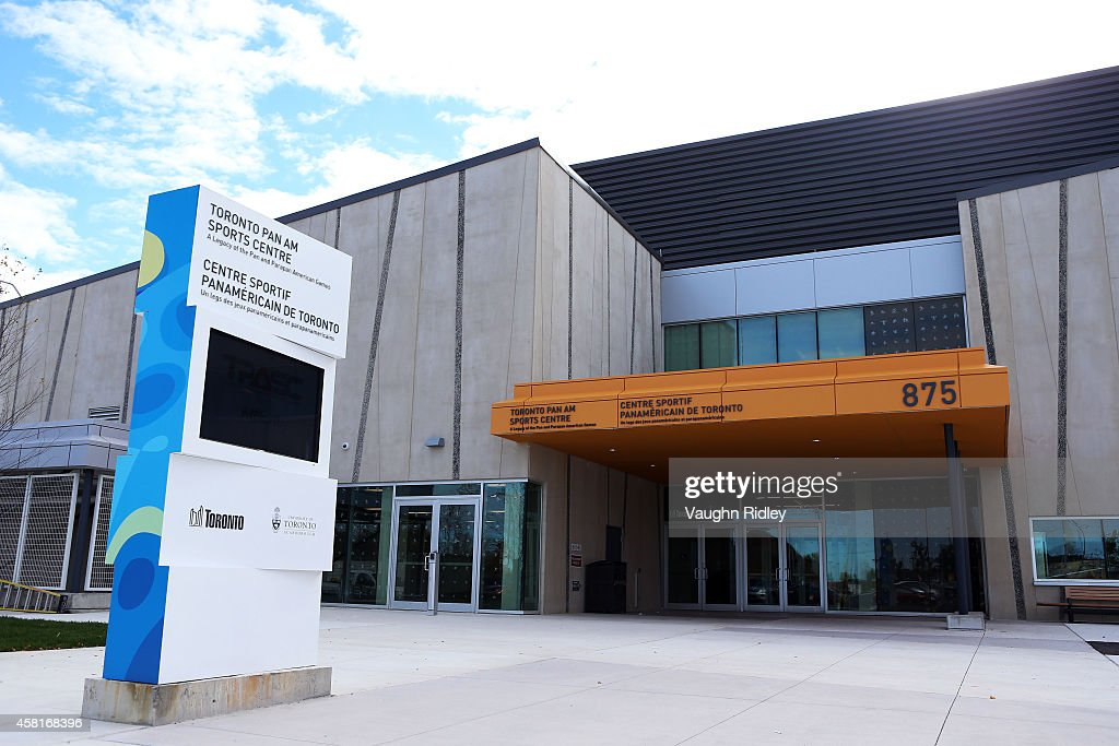 A general view of the exterior of the Toronto Pan Am Sports Centre (TPASC) on October 22, 2014 in Scarborough, Ontario, Canada.