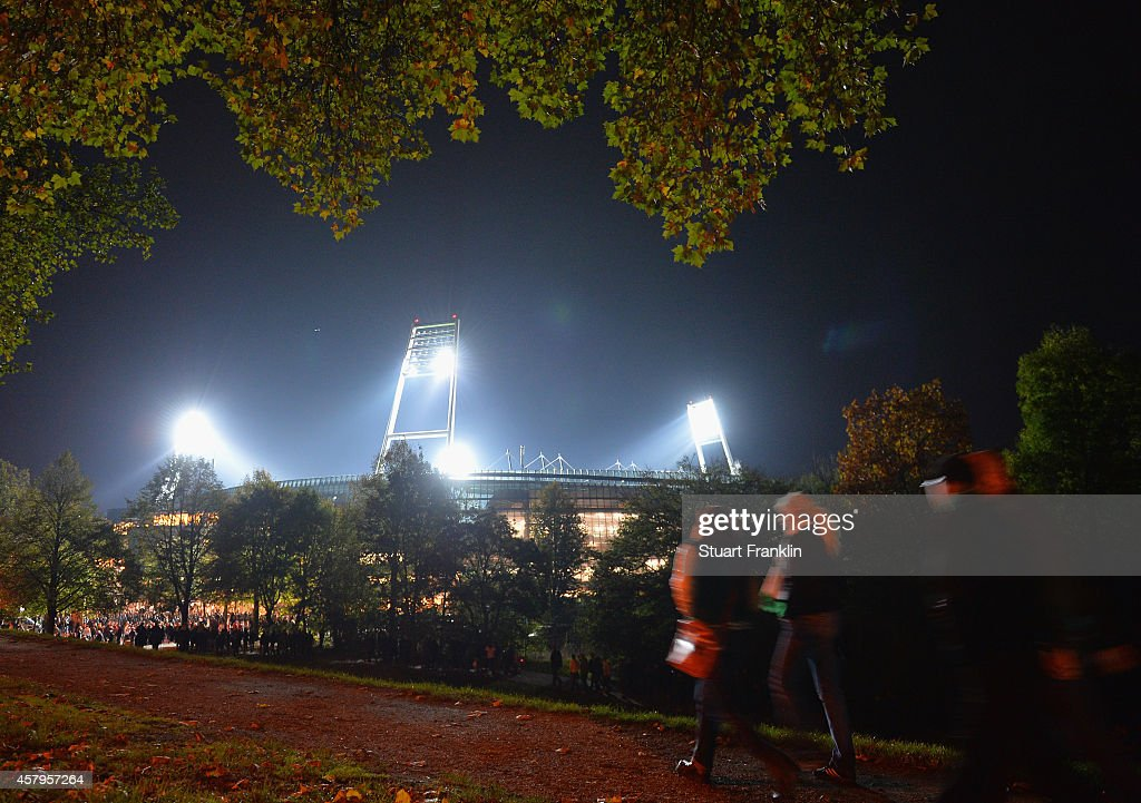 A general view of the exterior of the Weserstadion during the Bundesliga match between SV Werder Bremen and 1. FC Koeln at Weserstadion on October 24, 2014 in Bremen, Germany.