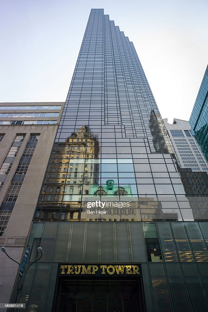 A general view of the exterior of Trump Tower at 725 Fifth Avenue on March 25 2014 in New York City The tower was designed by Der Scutt of Swanke...