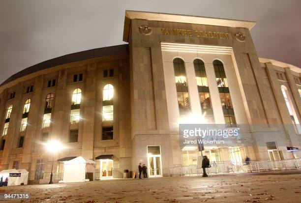 A general view of the exterior of Yankee Stadium during Game One of the 2009 MLB World Series between the New York Yankees and the Philadelphia...