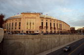 A general view of the exterior of Yankee Stadium prior to Game Two of the 2009 MLB World Series between the New York Yankees and the Philadelphia...