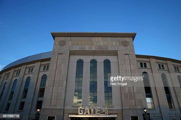 A general view of the exterior of Yankee Stadium prior to the American League Wild Card Game between the Houston Astros and the New York Yankees on...