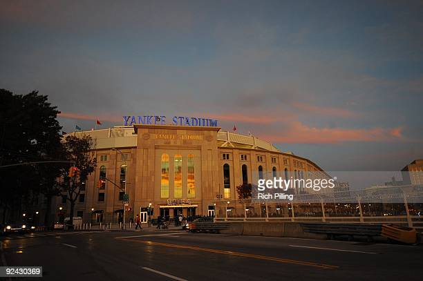 A general view of the exterior Yankee Stadium prior to game six of the American League Championship Series against the Los Angeles Angels of Anaheim...