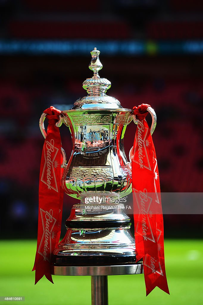 General view of the FA Cup before the Semi-Final match between Hull City and Sheffield United at Wembley Stadium on April 13, 2014 in London, England.