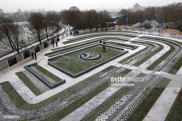 General view of the fan cemetery FC Schalke 04 FanFeld on December 7 2012 in Gelsenkirchen Germany