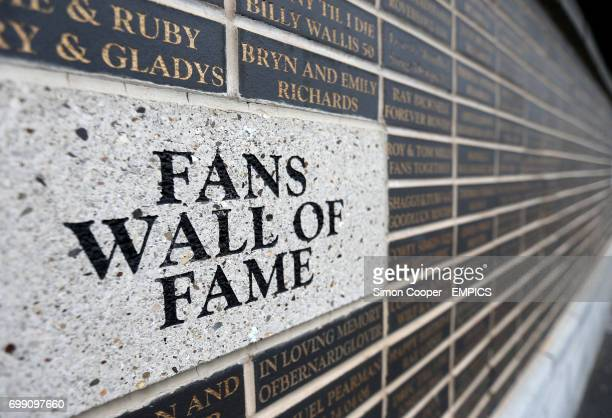 A general view of the Fans Wall of Fame at The Keepmoat Stadium