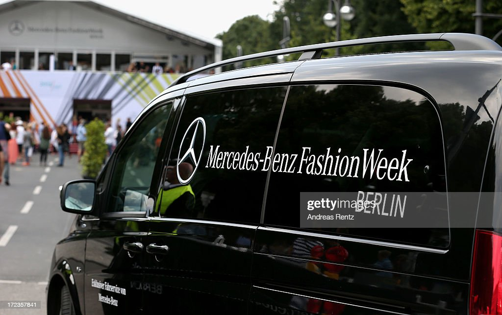 A general view of the fashion week tent during Mercedes-Benz Fashion Week on July 2, 2013 in Berlin, Germany.