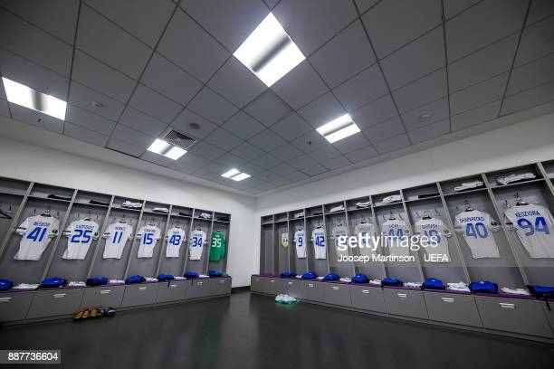 A general view of the FC Dynamo Kyiv dressing room during the UEFA Europa League group B match between FC Dynamo Kyiv and FK Partizan Belgrade at NSK...