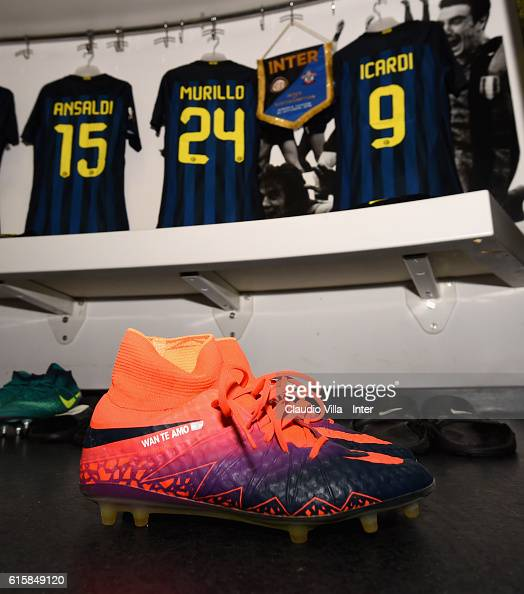 A general view of the FC Internazionale dressing room prior to the UEFA Europa League match between FC Internazionale Milano and Southampton FC at...