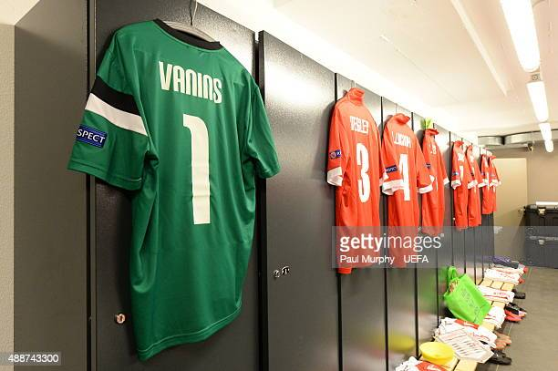 A general view of the FC Sion dressing room before the UEFA Europa League group B match between FC Sion and FC Rubin Kazan at the Stade de Tourbillon...