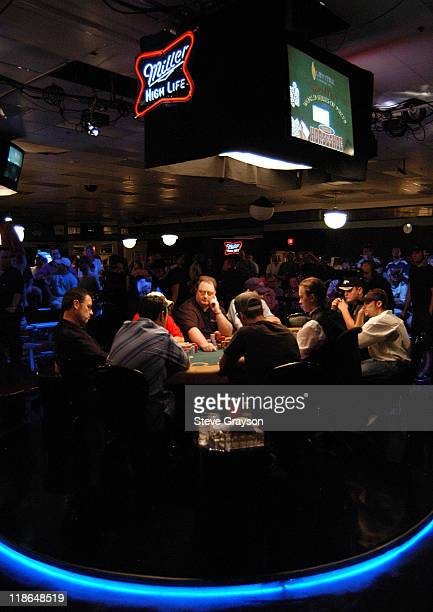 A general view of the 'Featured Table' during day six of the 2004 World Series of Poker at Binion's Horseshoe Club and Casino in Las Vegas Nevada May...