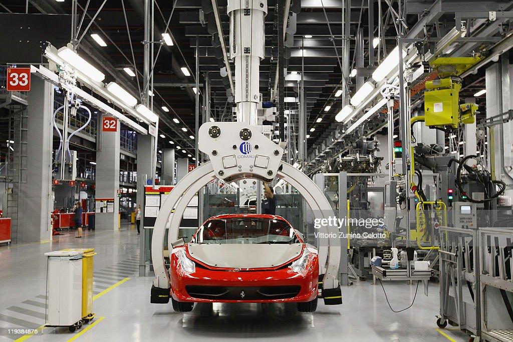 A General View Of The Ferrari Nuovo Montaggio Vetture New