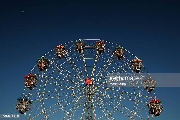 A general view of the ferris wheel is seen on the second day of the 2014 Deni Ute Muster at the Play on the Plains Festival grounds on October 4 2014...